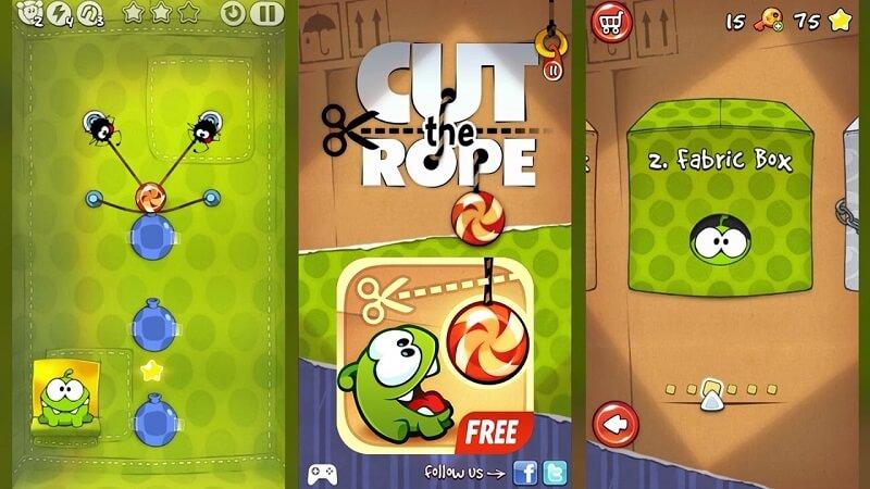 Cut the Rope Full Free – Dùng trí tu? ?? v??t th? thách