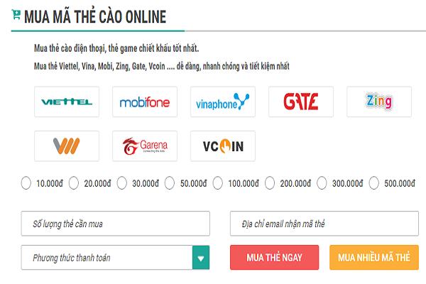 mua mã thẻ cào vietnamobile online