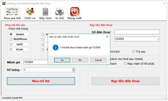 phần mềm Muathe24h
