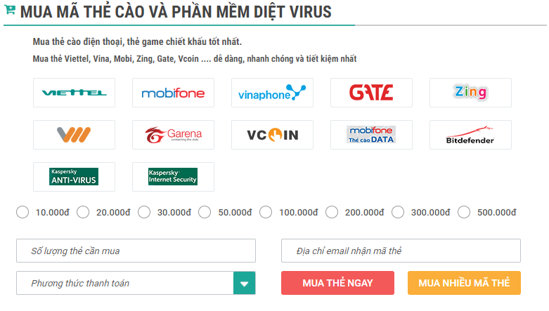 mã Kaspersky Antivirus 2016