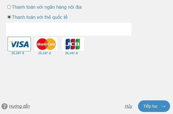 Chọn loại thẻ