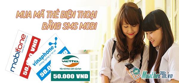Hướng dẫn chi tiết cách mua mã thẻ điện thoại bằng sms mobi