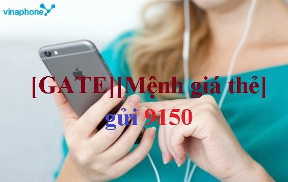 Mua thẻ cào Gate bằng SMS Vinaphone