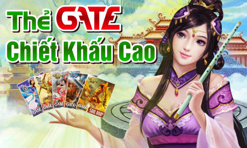 Thẻ game gate chiết khấu cao