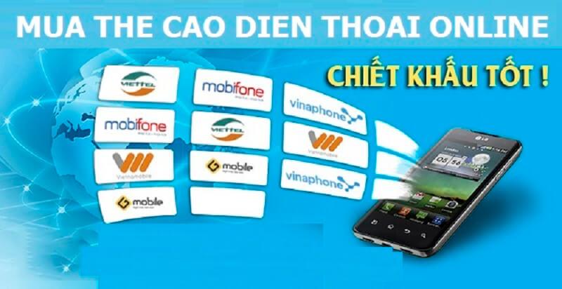 Mua thẻ điện thoại online từ muathe24h.vn