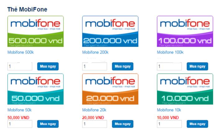 Mua thẻ Mobifone online nhanh nhất