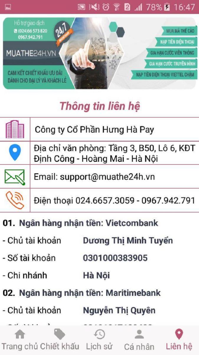 Muathe24h.vn- Nơi cung cấp nguồn thẻ mobiphone qua mạng lớn nhất