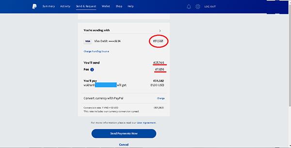Nạp tiền qua tài khoản Paypal