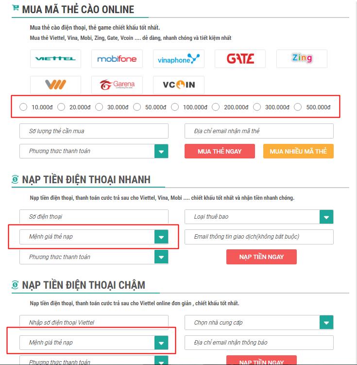 Cách nạp tiền điện thoại qua ngân hàng BIDV